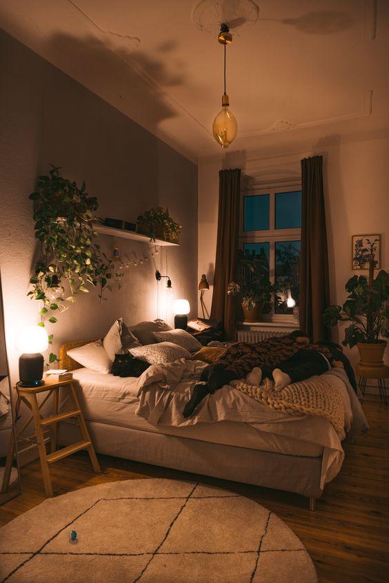 soothing bedroom lighting