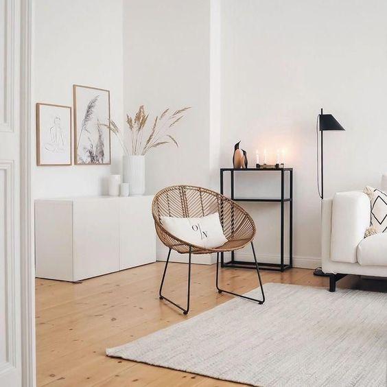 parquet floor for minimalist living room