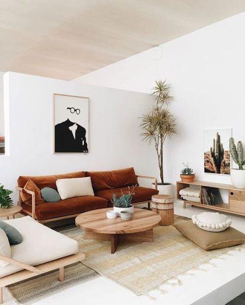 calm japanese living room design