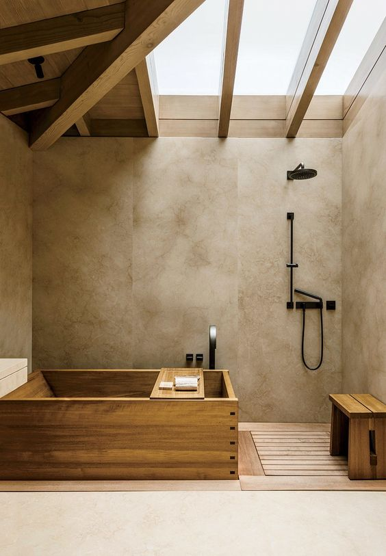 simple natural bathroom