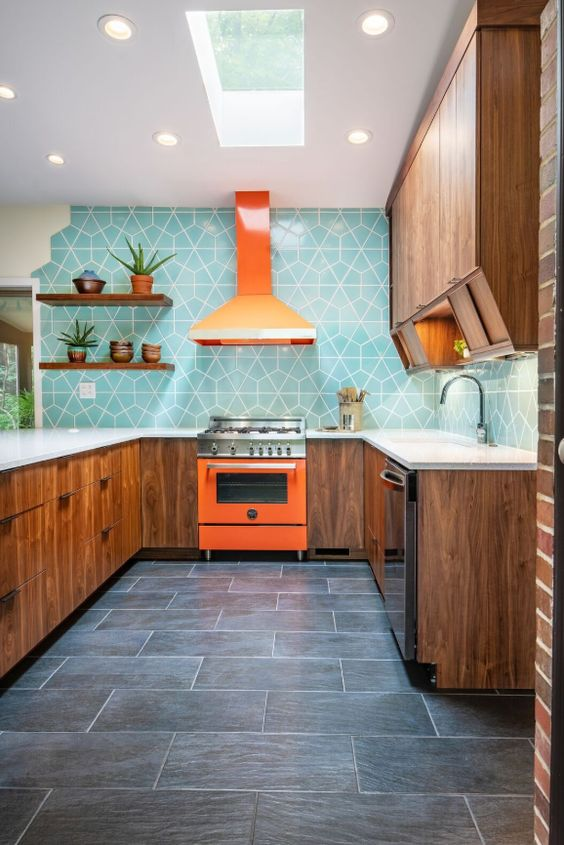 blue modern kitchen