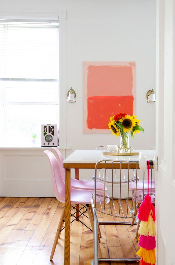 bright cheerful dining room