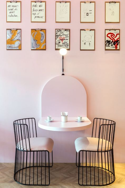 sweet pink dining room