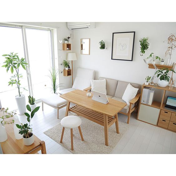 plant decor for japanese apartment