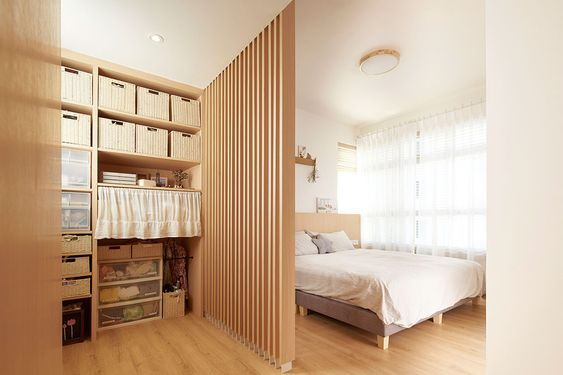 timber in japanese apartment