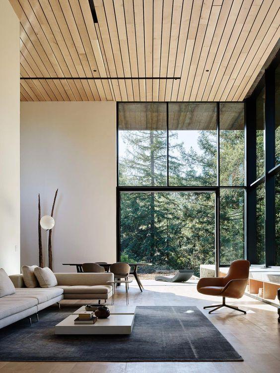 open-concept modern japanese living room