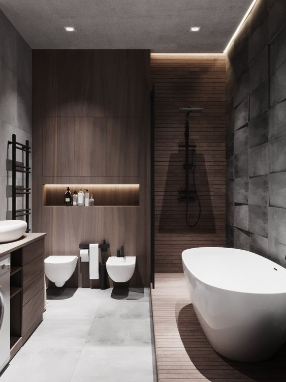 soothing minimalist bathroom