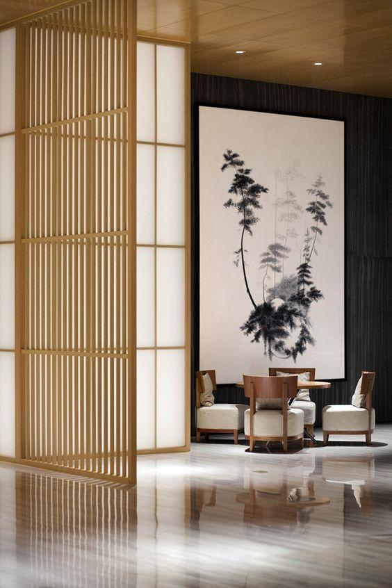 elegant modern japanese living room