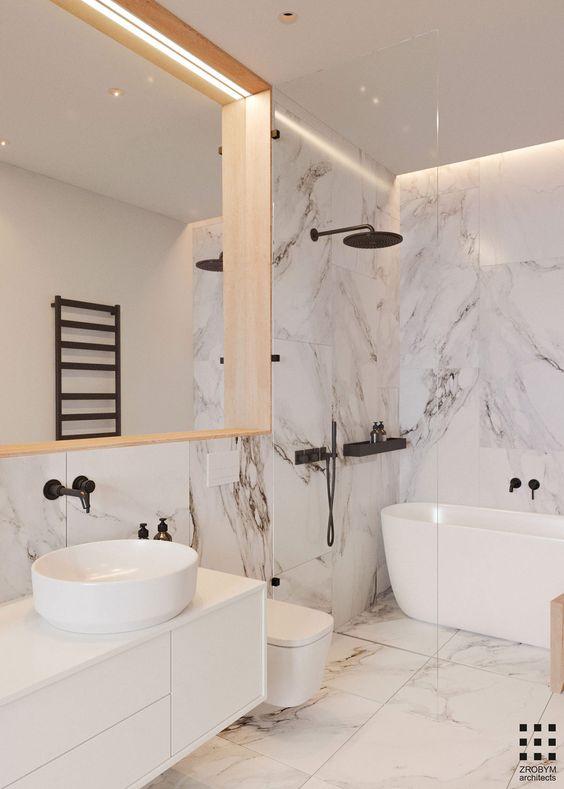 white elegant bathroom