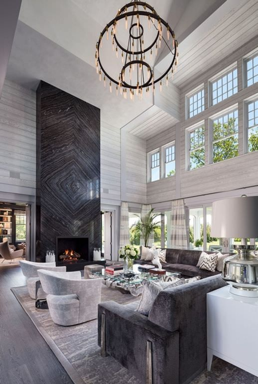 grey large living room