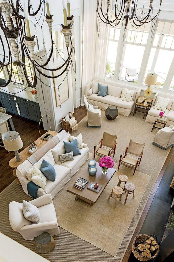 beige large living room