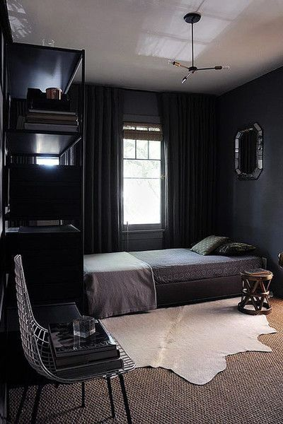 masculine small bedroom