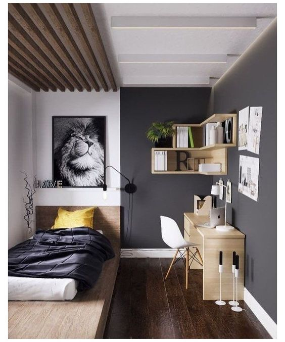 masculine and mature bedroom look