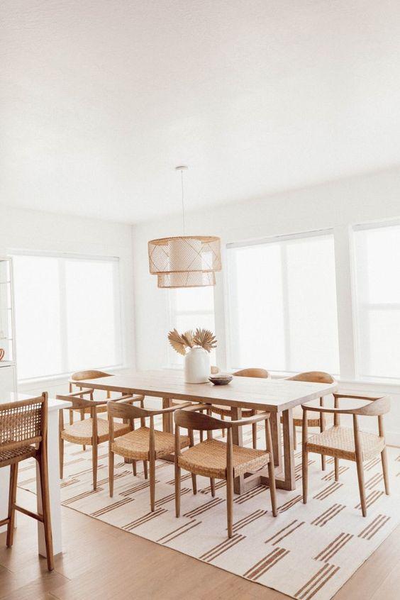 carpet for minimalist dining room