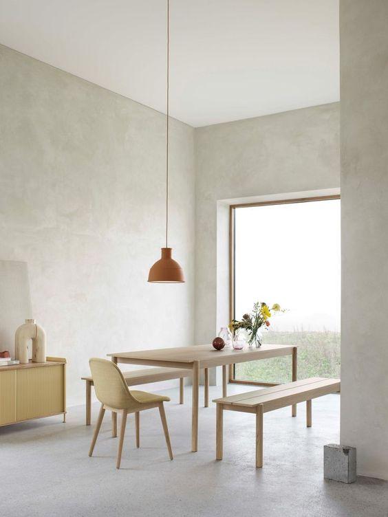 cozy minimalist dining room