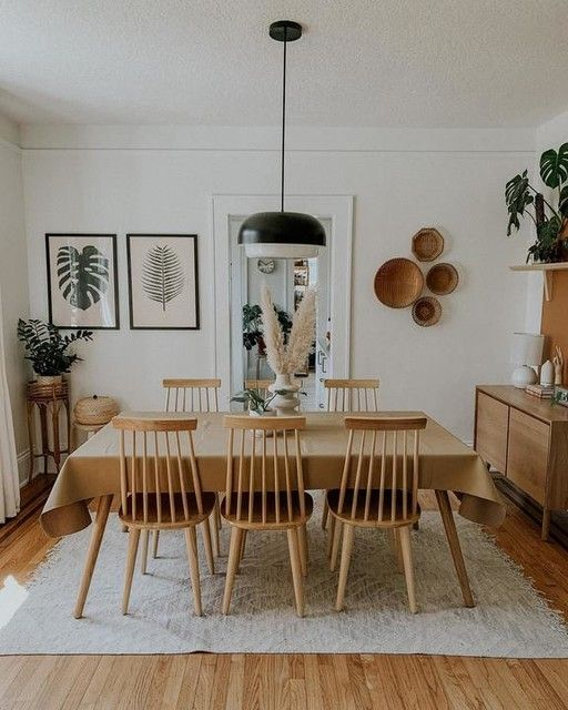 minimalist dining room wall decor