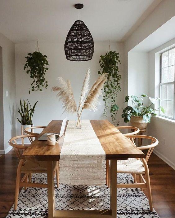fresh minimalist dining room decor