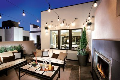 relaxed rooftop