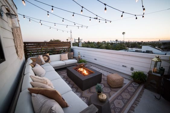 fire pit for rooftop garden