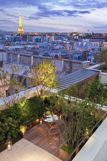 romantic rooftop garden
