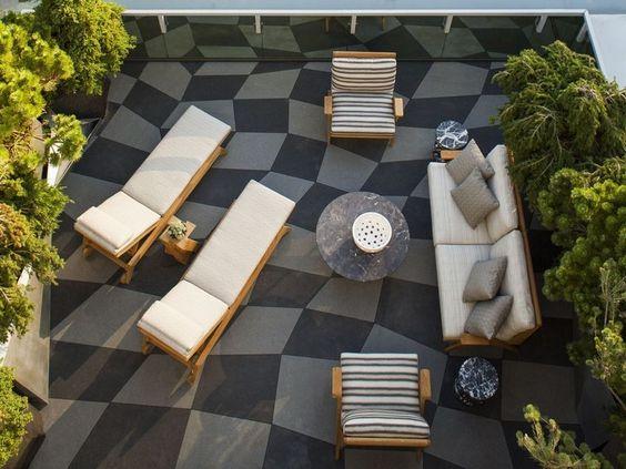 comfortable rooftop