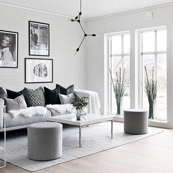 bright scandinavian small living room