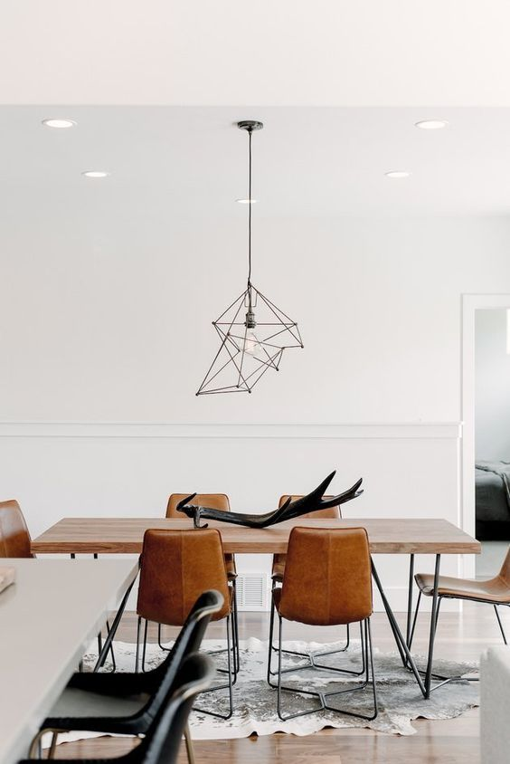 abstract pendant lamp for dining room