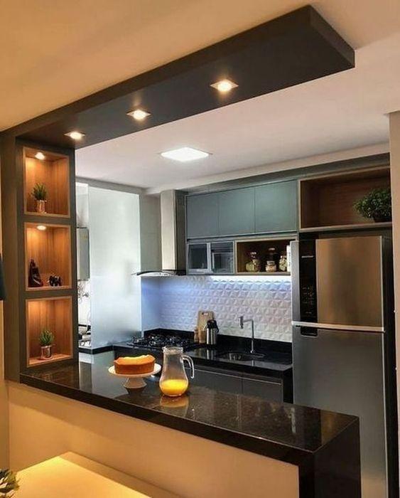 elegant minimalist kitchen