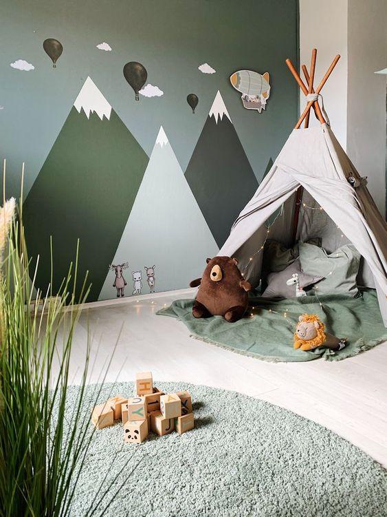 green kid bedroom