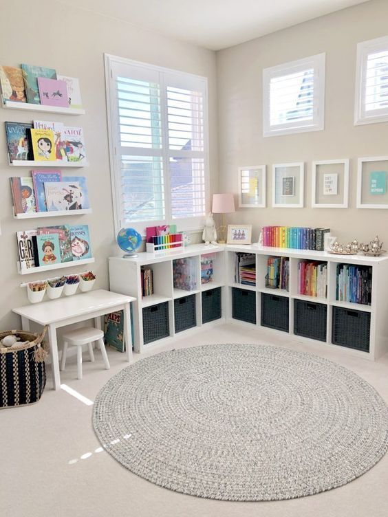 clean and neat kid bedroom
