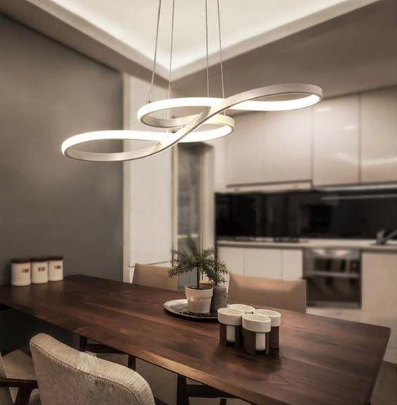 abstract pendant light