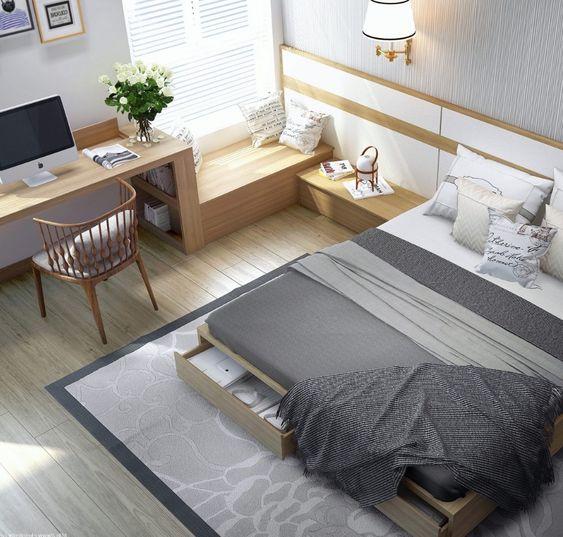 cozy minimalist bedroom