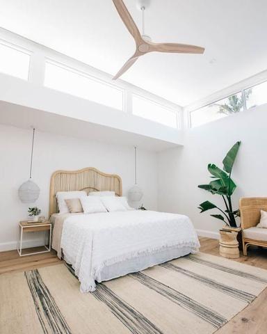 fresh and soft minimalist bedroom