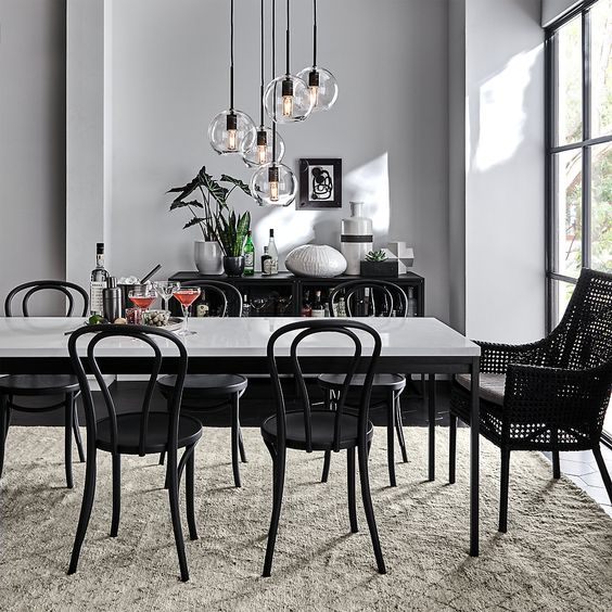 exposed bulb pendant lamp for dining room