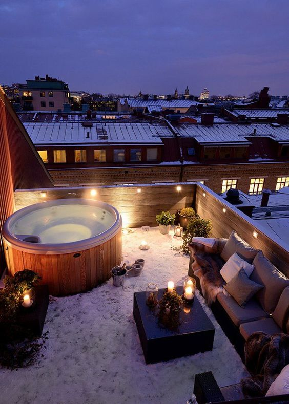 jaccuzi on the rooftop