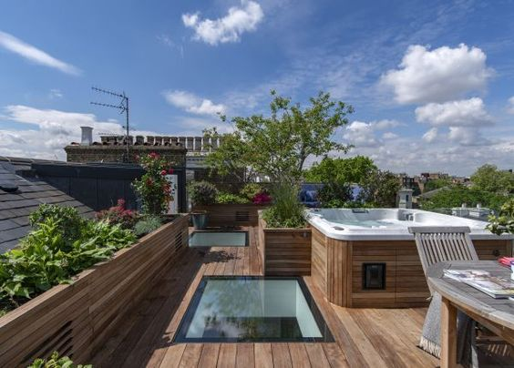 rooftop with jacuzzi