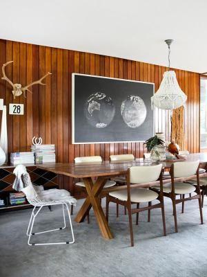 shiny wood wall