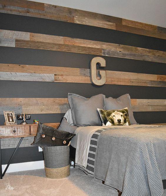 stripes horizontal wood wall