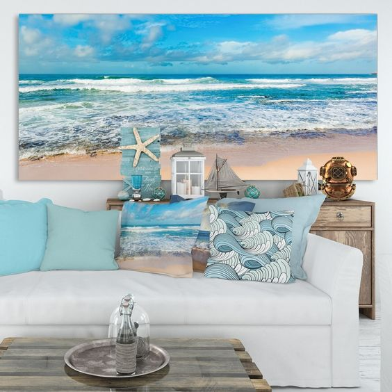 sea painting for coastal design