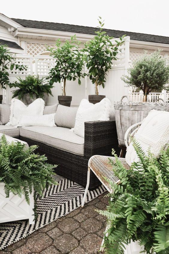 cozy backyard garden