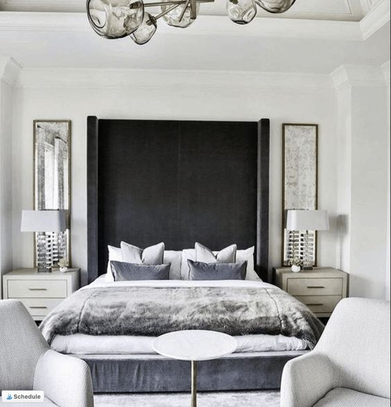 white cozy bedroom