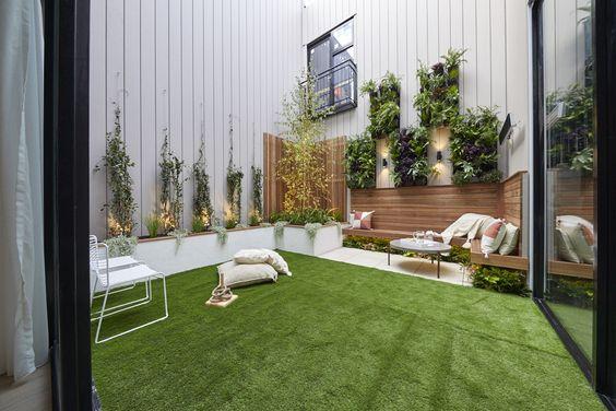 modern and minimalist small garden