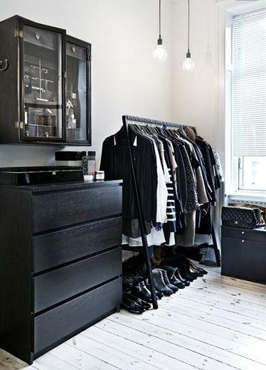 masculine monochrome bedroom