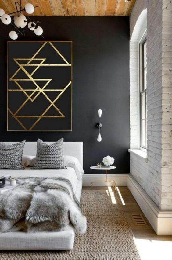 elegant monochrome bedroom