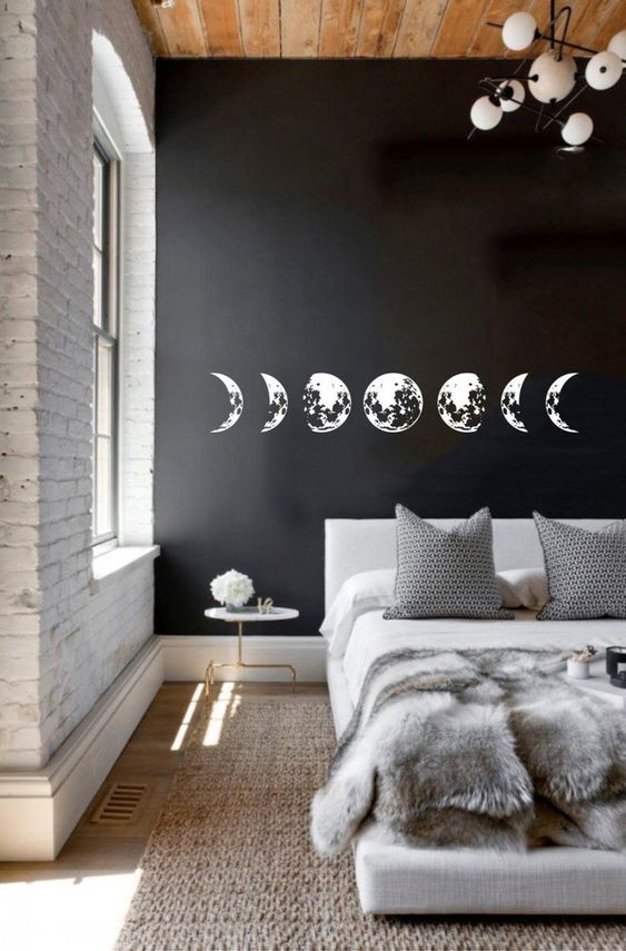 elegant and luxurious monochrome bedroom