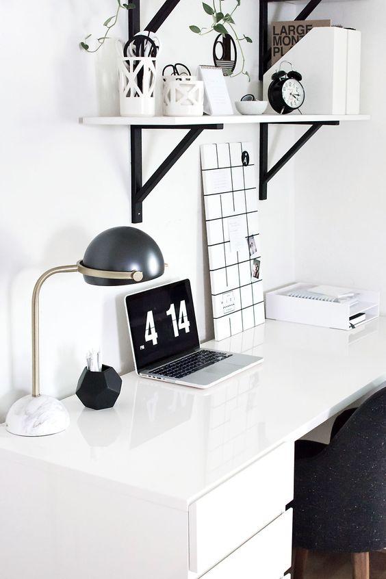 cozy bedroom workspace