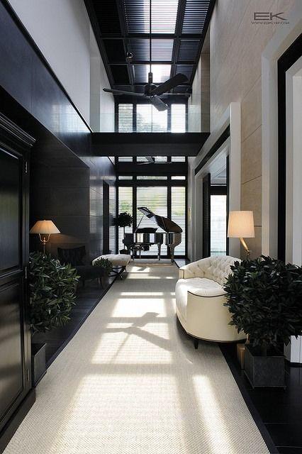 luxury monochrome living room