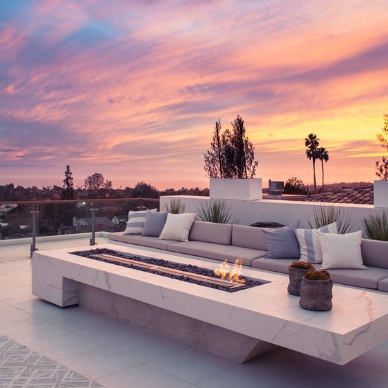 fire pit for rooftop