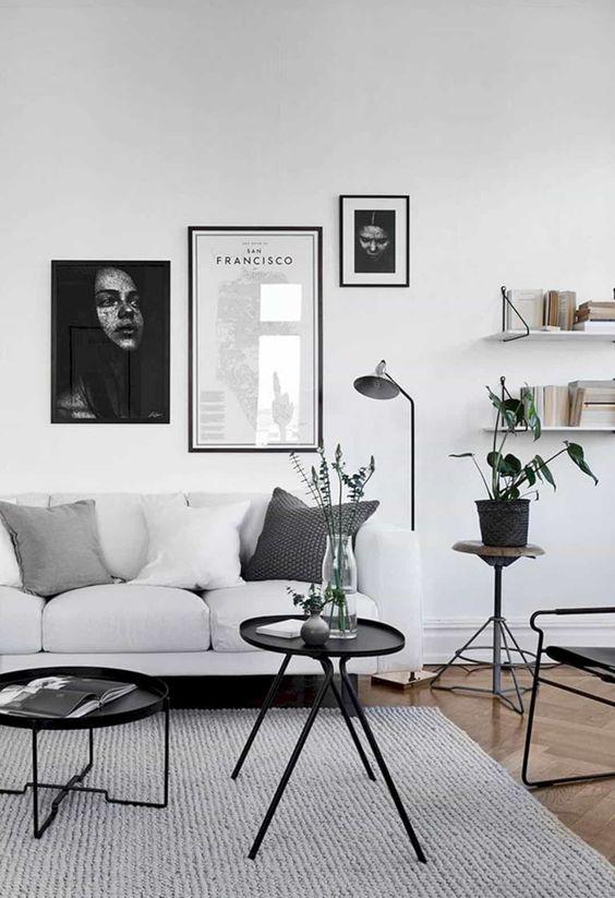 monochrome living room decoration