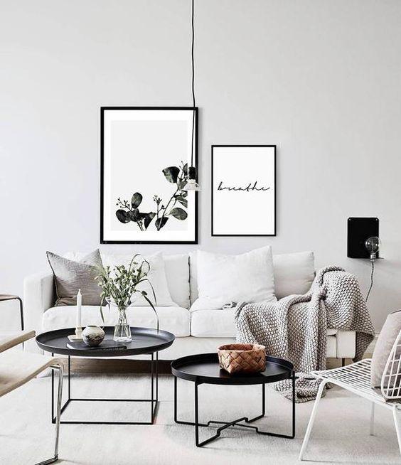 fresh monochrome living room